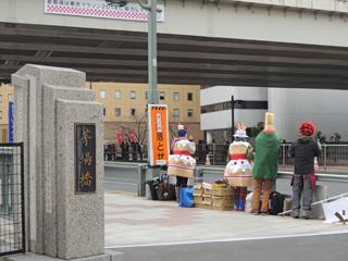 東京マラソン2014 茅場町
