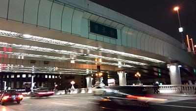 10月1日、夜21時の日本橋